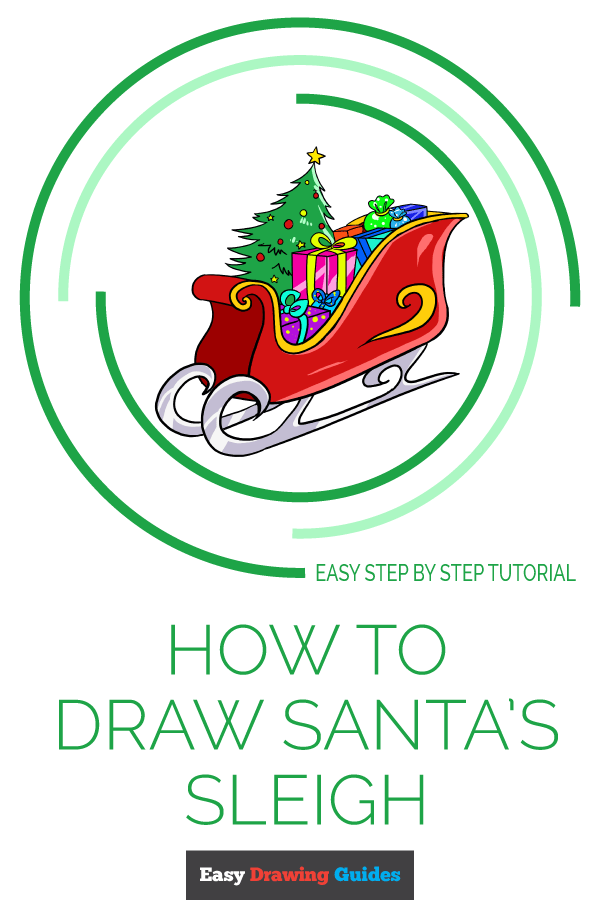 How to Draw Santa's Sleigh | Share to Pinterest