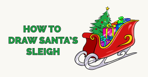 How to Draw Santa's Sleigh Featured Image