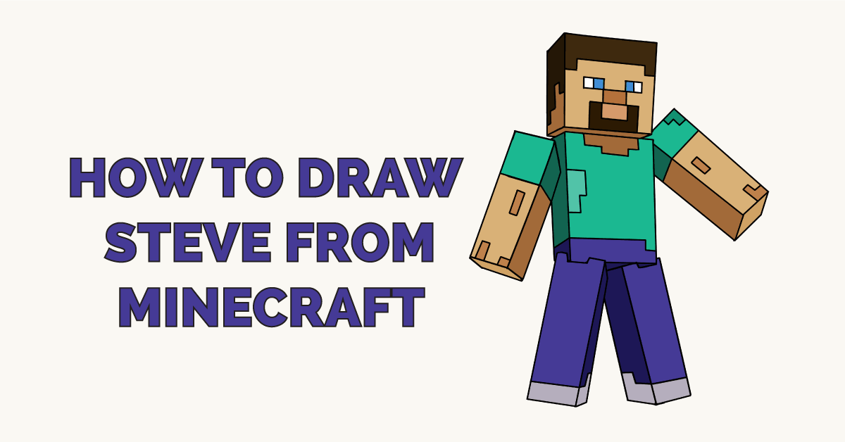 How to Draw Steve from Minecraft Featured Image