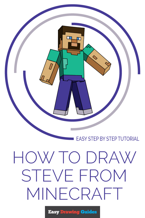 How to Draw Steve from Minecraft | Share to Pinterest