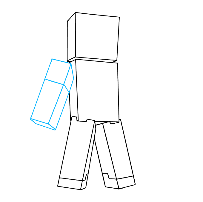 How to Draw Steve from Minecraft: Step 6