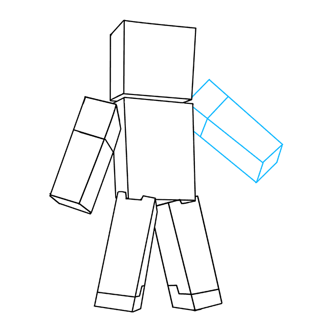 How to Draw Steve from Minecraft: Step 7