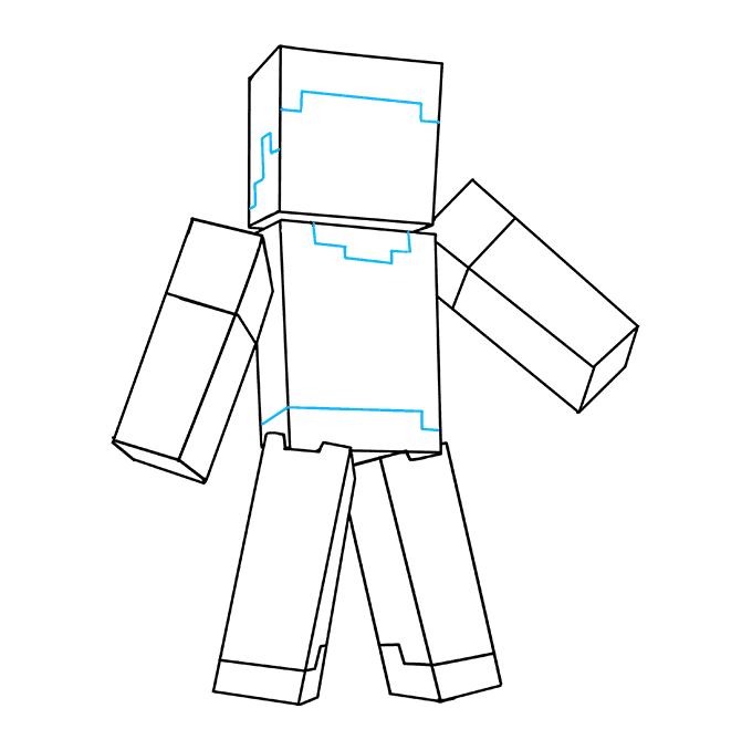 How to Draw Steve from Minecraft: Step 8