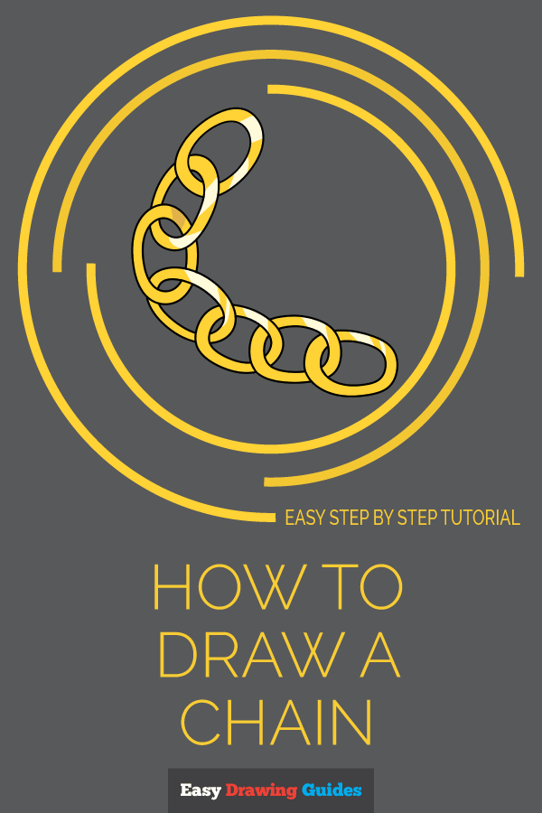 How to Draw Chain | Share to Pinterest