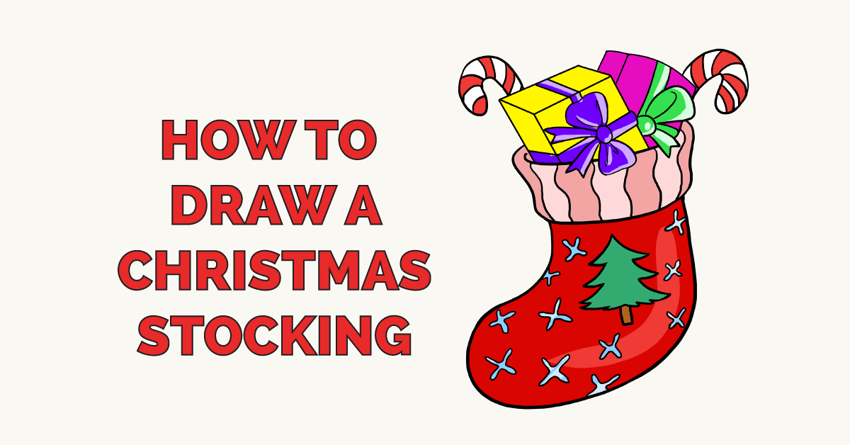 How to Draw a Christmas Stocking Featured Image