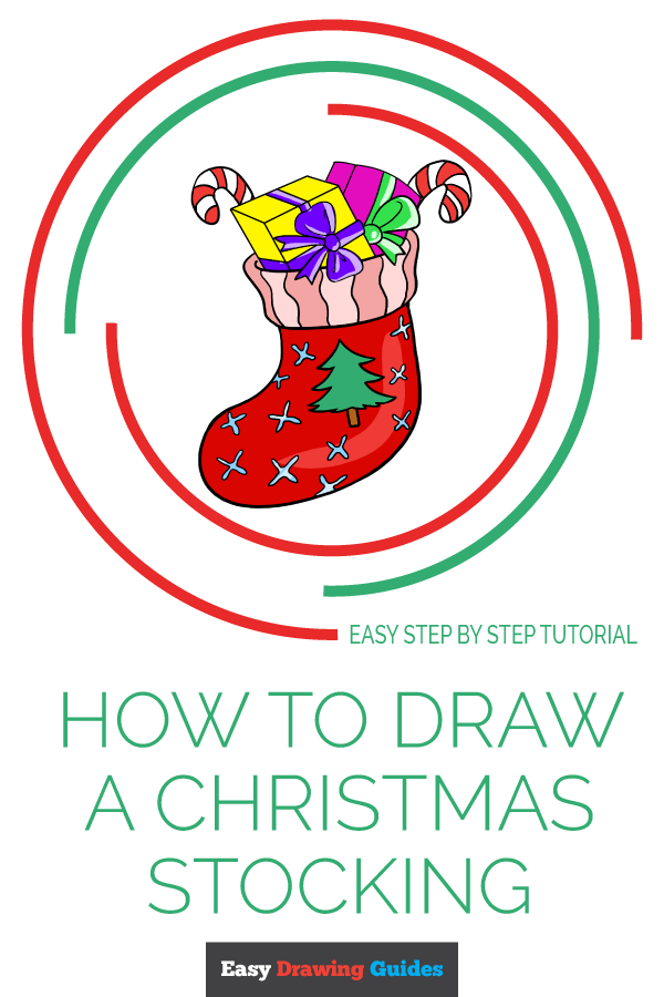 How to Draw Christmas Stocking | Share to Pinterest