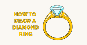 How to Draw a Diamond Ring Featured Image
