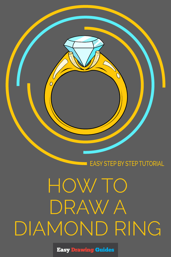 How to Draw Diamond Ring | Share to Pinterest