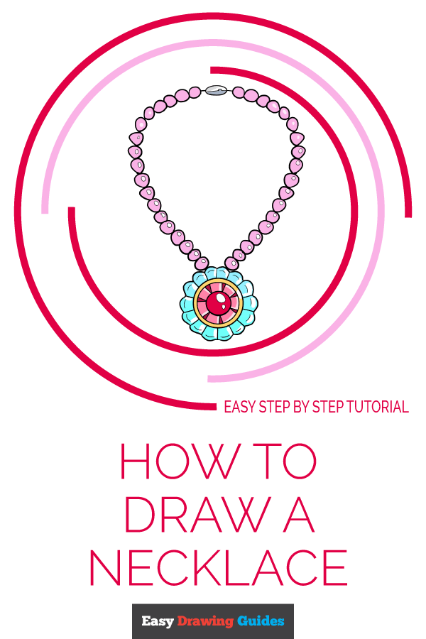 How to Draw Necklace | Share to Pinterest