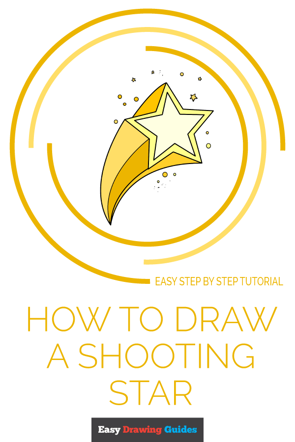 How to Draw Shooting Star | Share to Pinterest
