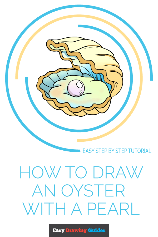 How to Draw Oyster with a Pearl | Share to Pinterest