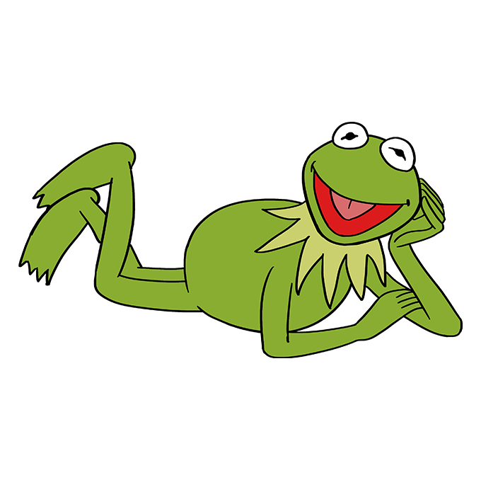 How to Draw Kermit the Frog: Step 10
