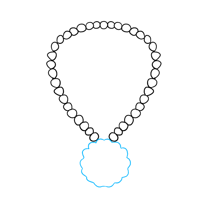 How to Draw Necklace: Step 3
