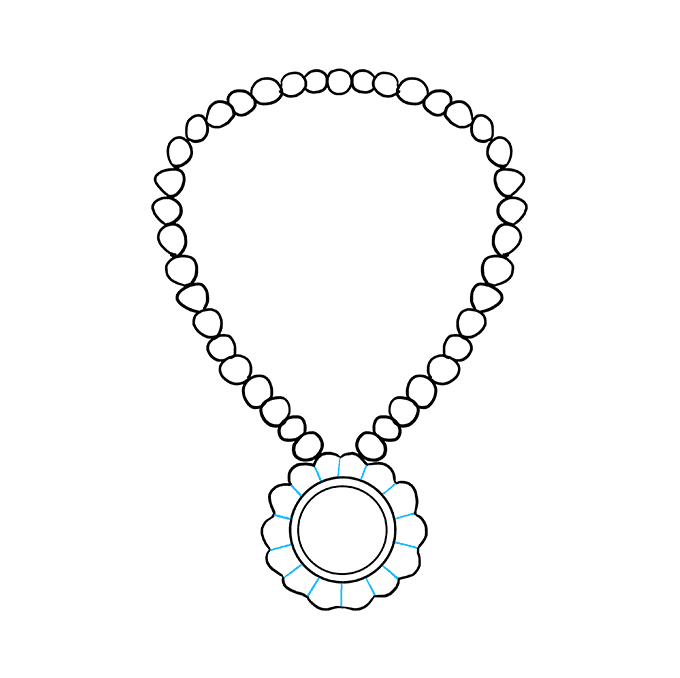 How to Draw Necklace: Step 6