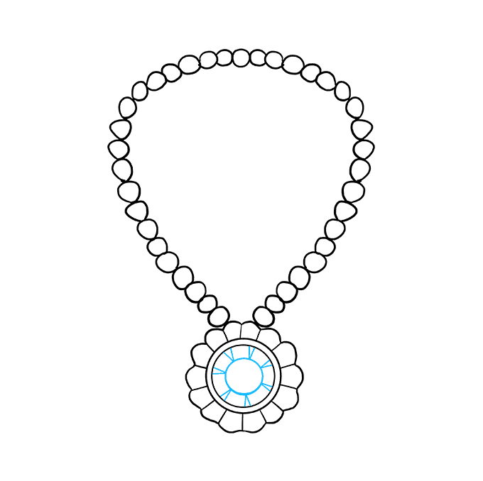 How to Draw Necklace: Step 7