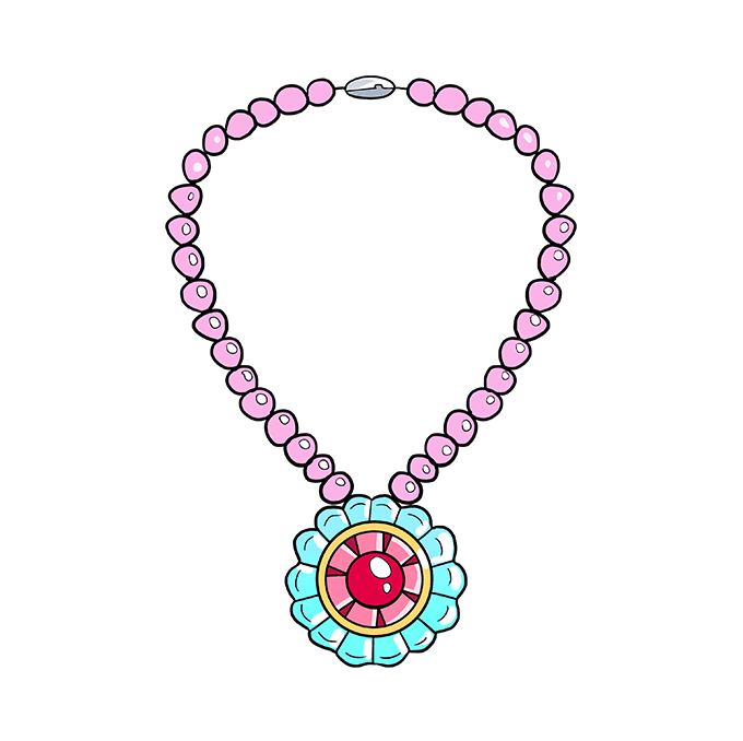 How to Draw Necklace: Step 10