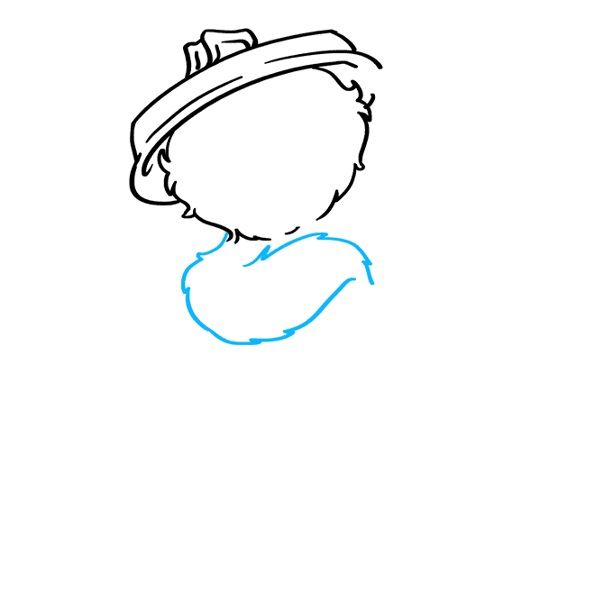 How to Draw Oscar Grouch from Sesame Street: Step 3