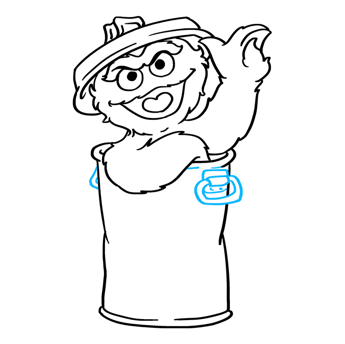 How to Draw Oscar Grouch from Sesame Street: Step 8