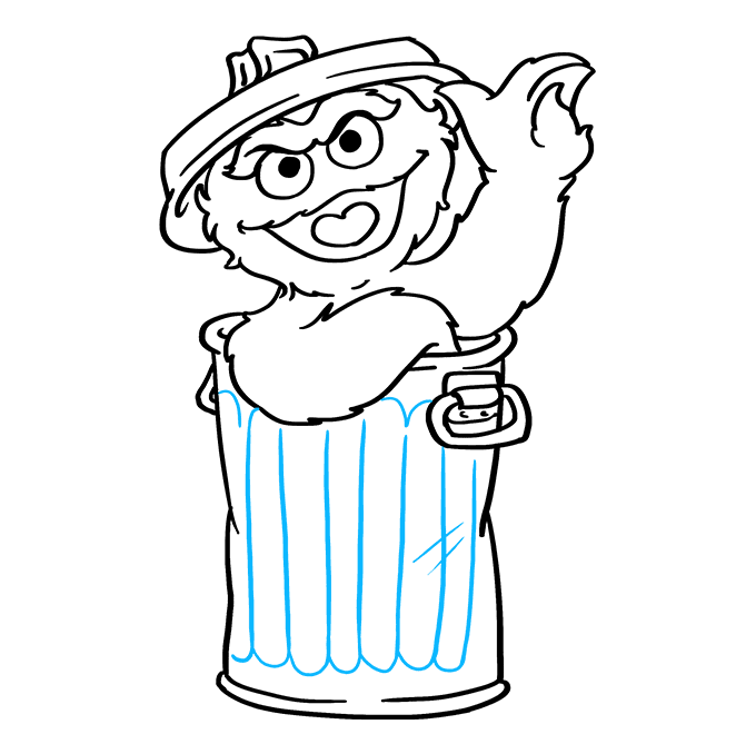How to Draw Oscar Grouch from Sesame Street: Step 9