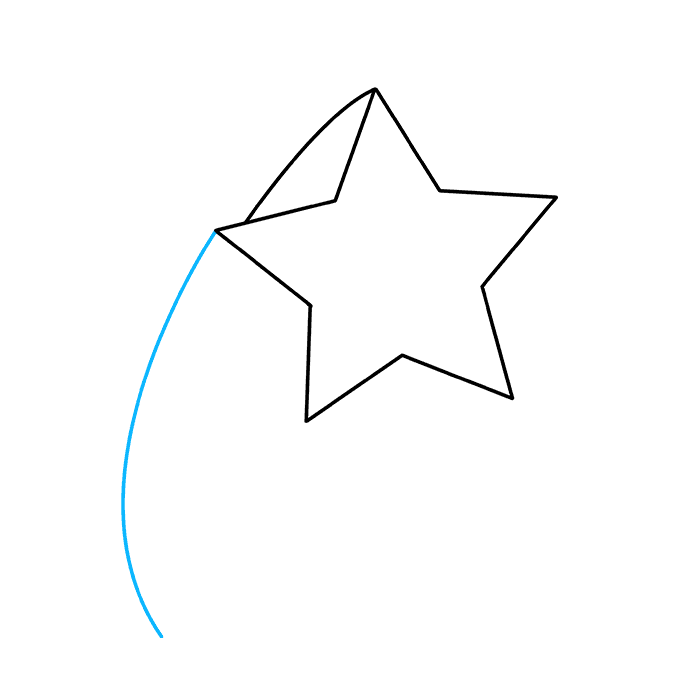 How to Draw Shooting Star: Step 4