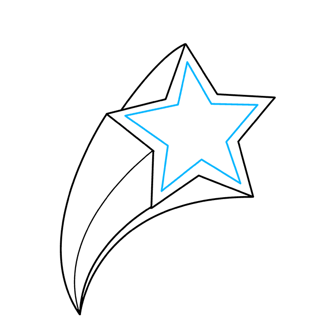 How to Draw a Shooting Star Step 08