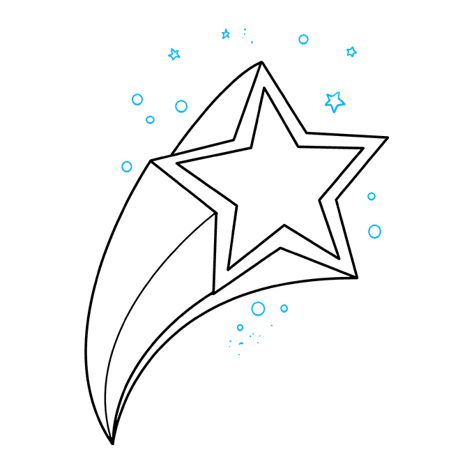 How to Draw a Shooting Star Step 09