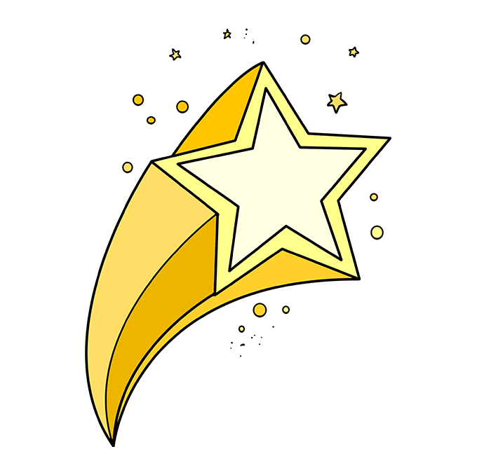 How to Draw a Shooting Star Step 10