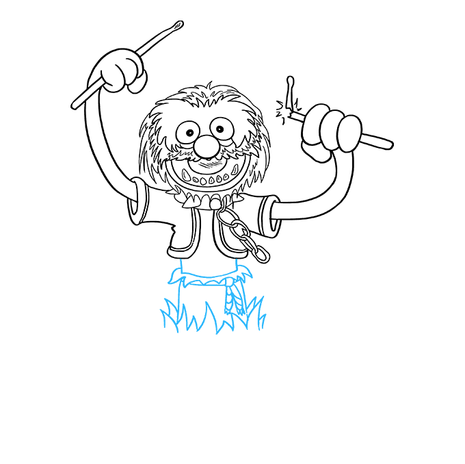 How to Draw Animal from the Muppet Show Step 08