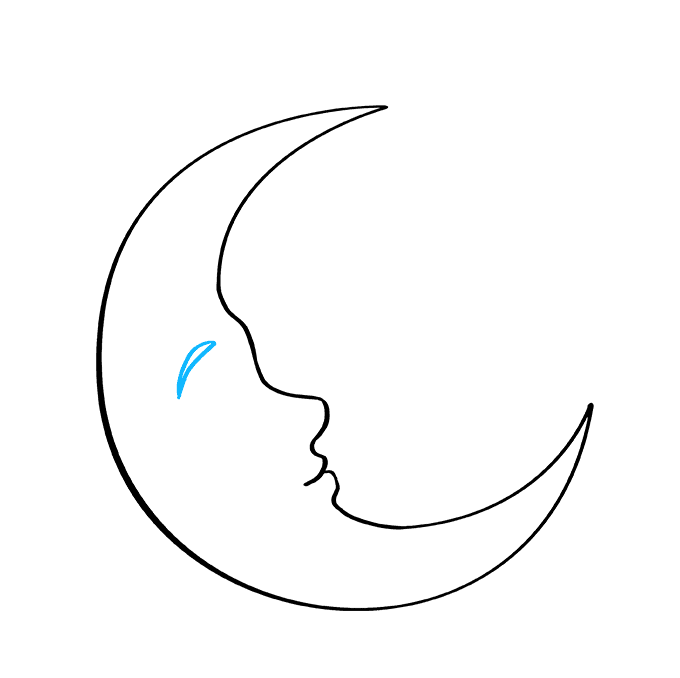 How to Draw Crescent Moon: Step 5