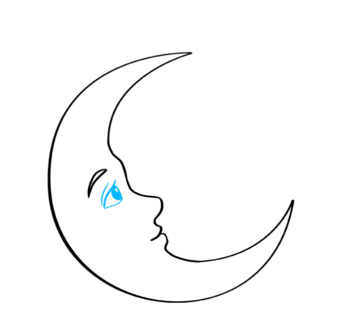 How to Draw Crescent Moon: Step 6