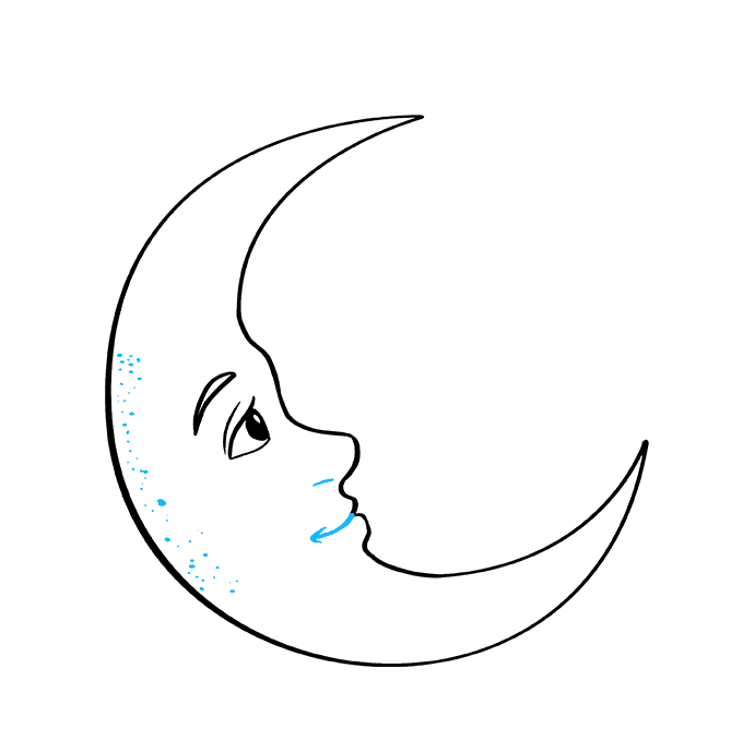 How to Draw Crescent Moon: Step 7