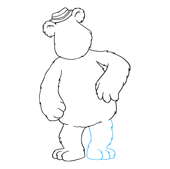 How to Draw Fozzie Bear from the Muppet Show: Step 6
