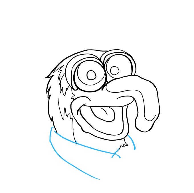 How to Draw Gonzo from the Muppet Show: Step 7