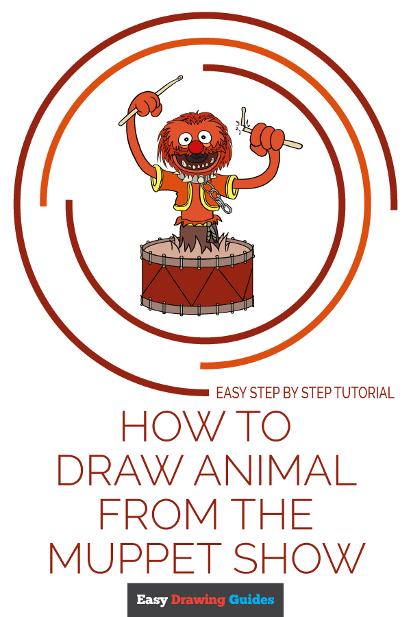 How to Draw Animal from the Muppet Show | Share to Pinterest