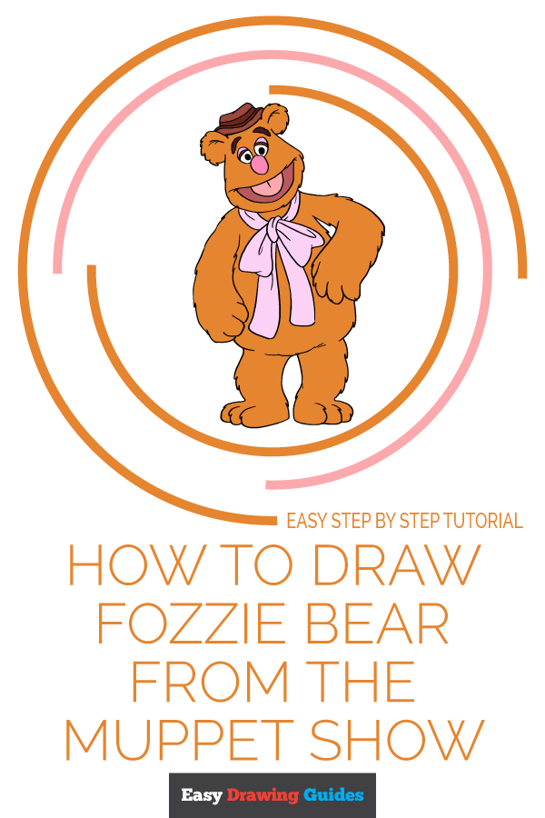 How to Draw Fozzie Bear from the Muppet Show | Share to Pinterest