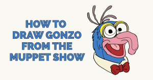 How to Draw Gonzo from the Muppet Show Featured Image