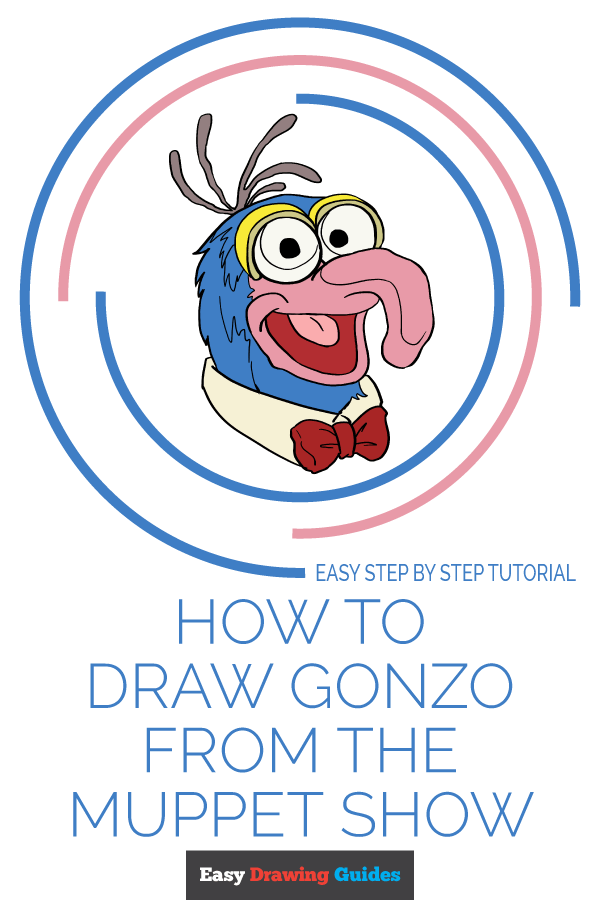 How to Draw Gonzo from the Muppet Show - Really Easy Drawing