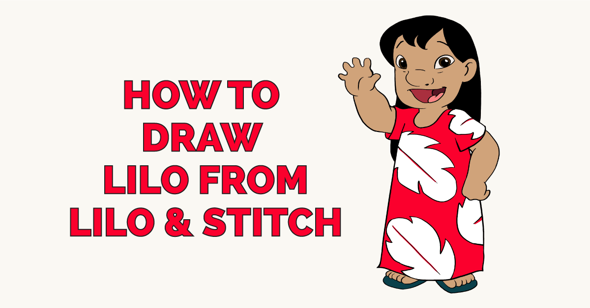 How to Draw Lilo from Lilo and Stitch Featured Image