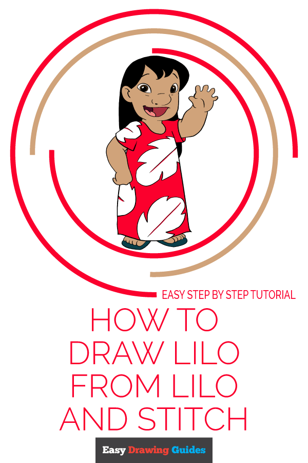 How to Draw Lilo from Lilo and Stitch Pinterest Image