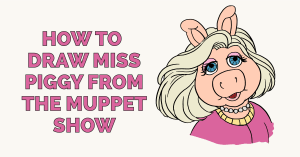 How to Draw Miss Piggy from the Muppet Show Featured Image