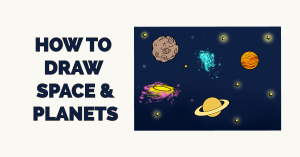 How to Draw Space and Planets Featured Image
