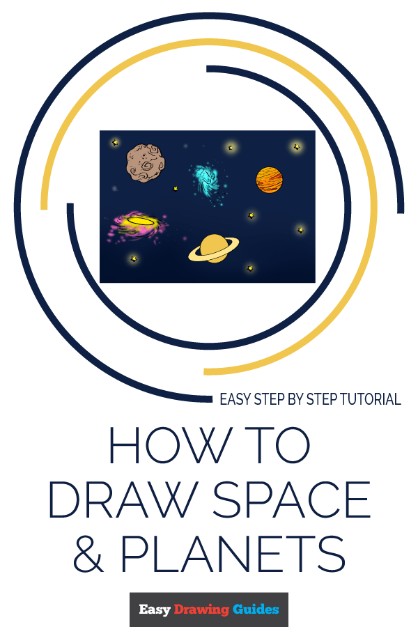 How to Draw Space and Planets Pinterest Image