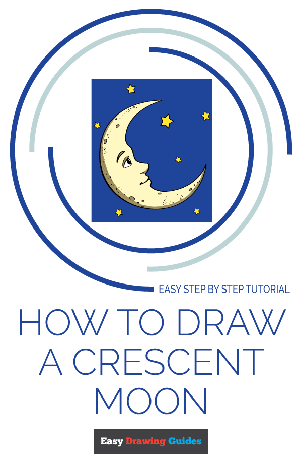 How to Draw Crescent Moon | Share to Pinterest