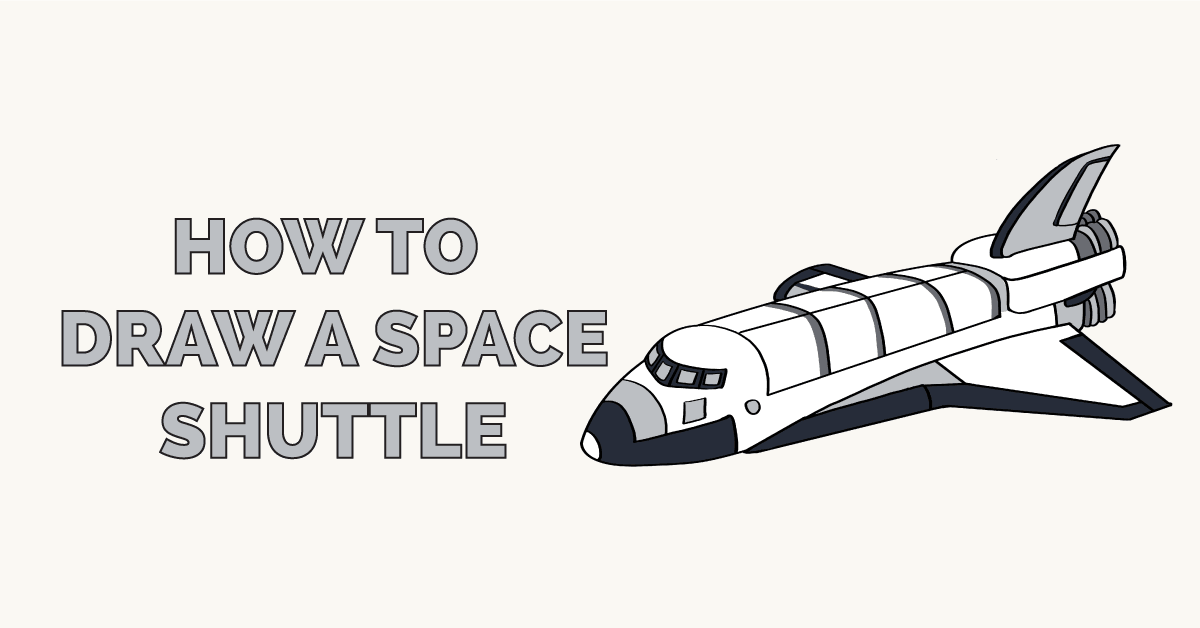 How to Draw a Space Shuttle Featured Image
