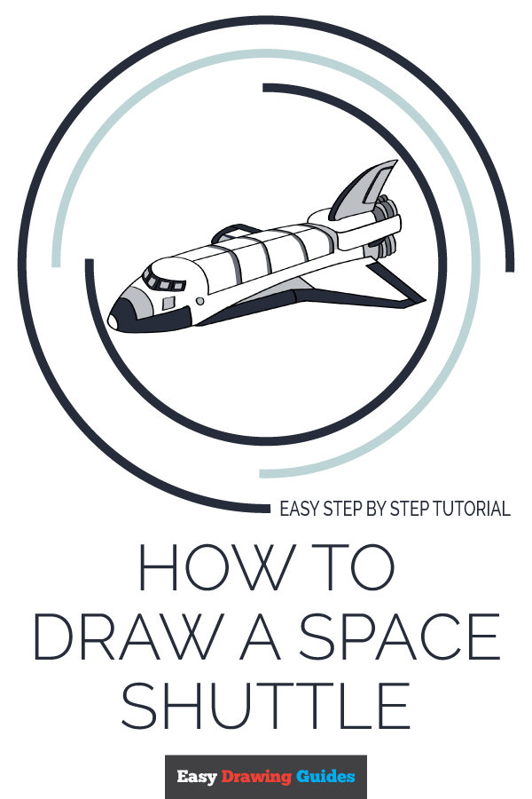 How to Draw a Space Shuttle Pinterest Image