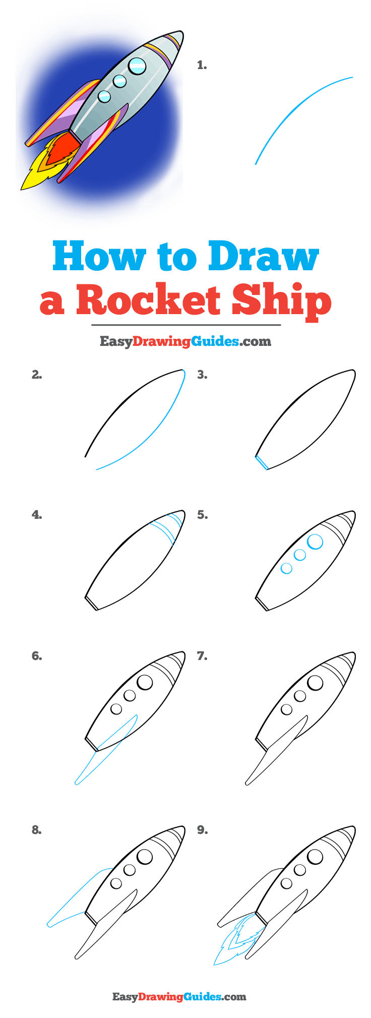 How to Draw Rocket Ship