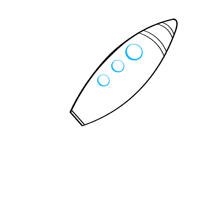 How to Draw Rocket Ship: Step 5