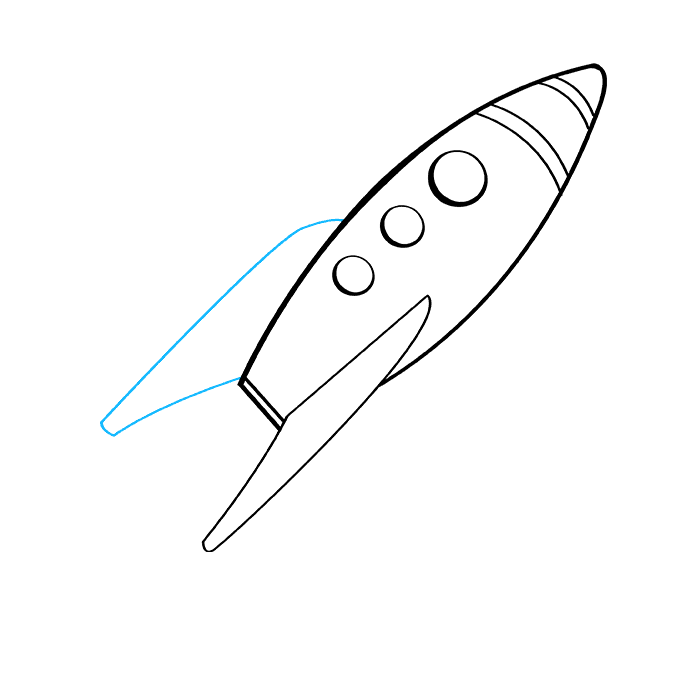How to Draw Rocket Ship: Step 8