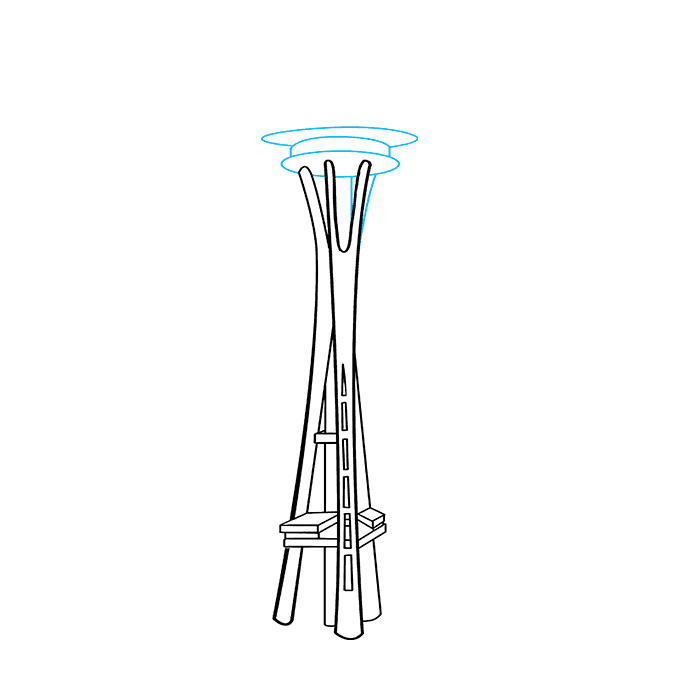 How to Draw Space Needle: Step 8