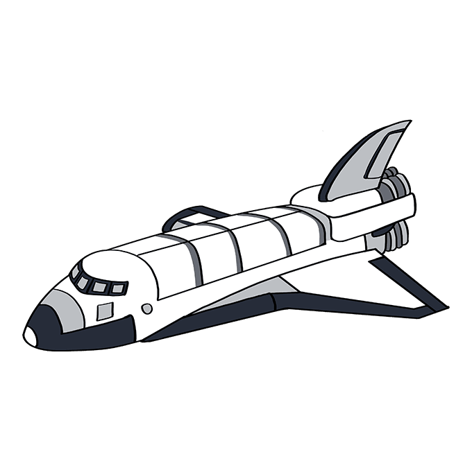 How to Draw a Space Shuttle Step 10